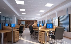 2x2 LED fixture office lighting