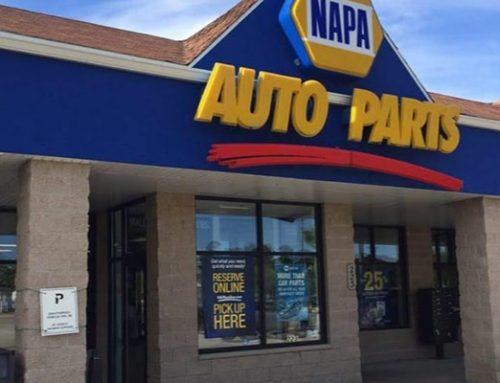 NAPA Auto Parts Shop Lighting LED Flat Panel Light Upgrade In Wisconsin, USA