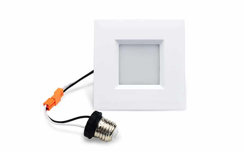 4 inch led retrofit for square recessed light