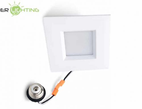8W 10W 4 Inch Square LED Retrofit Recessed Light Conversion Kit Dimmable Can Lights Equivalent ETL Energy Star Certified