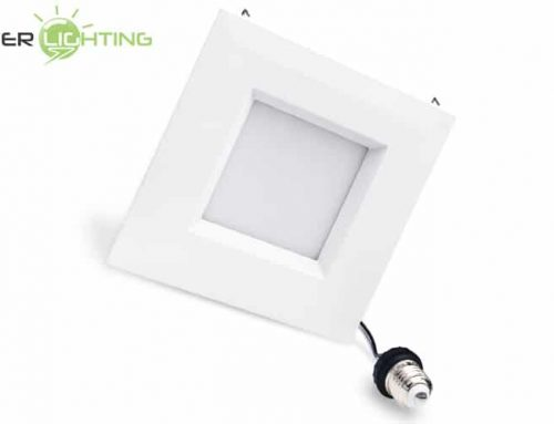 12W 15W 6″ Square LED Retrofit Downlight, Recessed Dimmable 5/6 inch Can Light Equivalent ETL Energy Star Certified