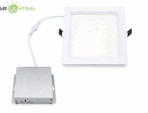 6 Inch LED Wafer Lights Square WF6 Downlight, 12W 15W Ultra Thin LED Panel Light Dimmable 120V ETL Energy Star Certified