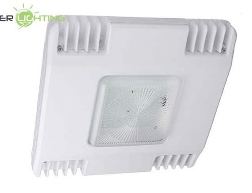60W 100W 130W 150W Low Profile LED Gas Station Canopy Lights ETL cETL DLC Listed