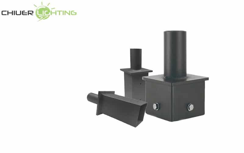 square pole tenon adapter